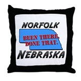 norfolk nebraska - been there, done that Throw Pil