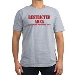 Restricted Area Men's Fitted T-Shirt (dark)