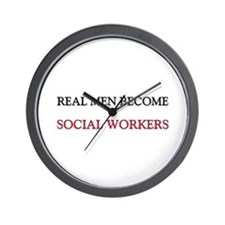 Real Men Become Social Workers Wall Clock