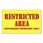 Restricted Area Sticker (Rectangle)