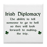 Irish Diplomacy Tile Coaster