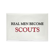 Real Men Become Scouts Rectangle Magnet