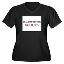 Real Men Become Scouts Women's Plus Size V-Neck Da