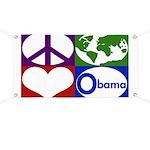 Peace, Earth, Heart Obama Banner