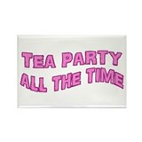 Tea Party Time Rectangle Magnet (10 pack)