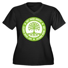 Got Irish Roots? Women's Plus Size V-Neck Dark T-S