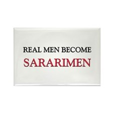 Real Men Become Sararimen Rectangle Magnet (10 pac