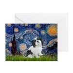 Starry / Lhasa Apso #2 Greeting Cards (Pk of 10)