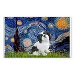 Starry / Lhasa Apso #2 Sticker (Rectangle)