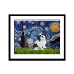 Starry / Lhasa Apso #2 Framed Panel Print