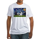 Starry / Lhasa Apso #2 Fitted T-Shirt