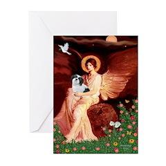 Angel / Lhasa Apso #2 Greeting Cards (Pk of 10)