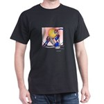 Blue Feather Femdroid Dark T-Shirt