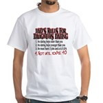 Dads Rules for Daughters Dating White T-Shirt