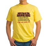 Dads Rules for Daughters Dating Yellow T-Shirt