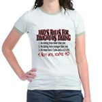 Dads Rules for Daughters Dating Jr. Ringer T-Shirt