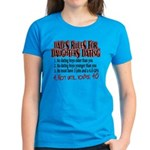 Dads Rules for Daughters Dating Women's Dark T-Shi
