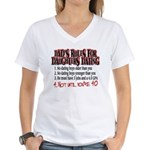Dads Rules for Daughters Dating Women's V-Neck T-S
