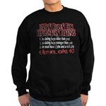 Dads Rules for Daughters Dating Sweatshirt (dark)