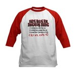 Dads Rules for Daughters Dating Kids Baseball Jers