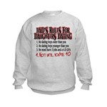 Dads Rules for Daughters Dating Kids Sweatshirt