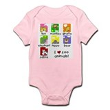 I Love Zoo Animals Infant Bodysuit