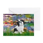 Lilies / Lhasa Apso #2 Greeting Card