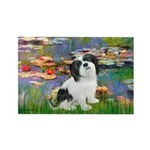 Lilies / Lhasa Apso #2 Rectangle Magnet