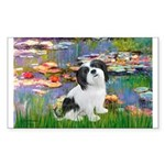 Lilies / Lhasa Apso #2 Sticker (Rectangle 50 pk)
