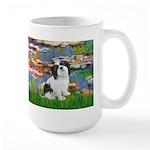 Lilies / Lhasa Apso #2 Large Mug