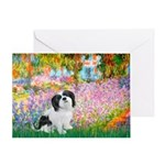 Garden / Lhasa Apso #2 Greeting Card