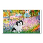 Garden / Lhasa Apso #2 Sticker (Rectangle)