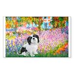 Garden / Lhasa Apso #2 Sticker (Rectangle 10 pk)