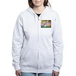 Garden / Lhasa Apso #2 Women's Zip Hoodie