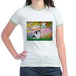 Garden / Lhasa Apso #2 Jr. Ringer T-Shirt