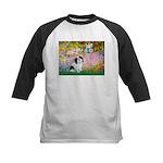 Garden / Lhasa Apso #2 Kids Baseball Jersey