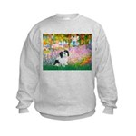 Garden / Lhasa Apso #2 Kids Sweatshirt