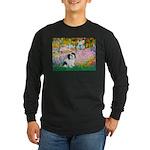Garden / Lhasa Apso #2 Long Sleeve Dark T-Shirt