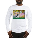 Garden / Lhasa Apso #2 Long Sleeve T-Shirt