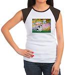 Garden / Lhasa Apso #2 Women's Cap Sleeve T-Shirt