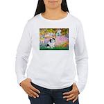 Garden / Lhasa Apso #2 Women's Long Sleeve T-Shirt