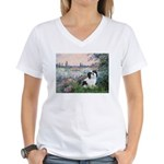 Seine / Lhasa Apso #2 Women's V-Neck T-Shirt