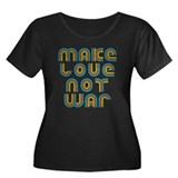 Make Love Not War Women's Plus Size Scoop Neck Dar