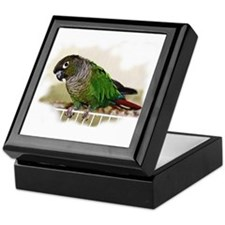 Greencheek Conure Keepsake Box
