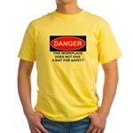 Danger Sign Yellow T-Shirt