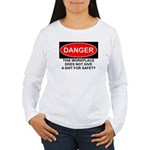 Danger Sign Women's Long Sleeve T-Shirt