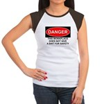 Danger Sign Women's Cap Sleeve T-Shirt