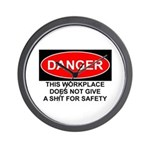 Danger Sign Wall Clock