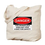 Danger Sign Tote Bag