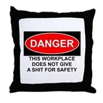 Danger Sign Throw Pillow